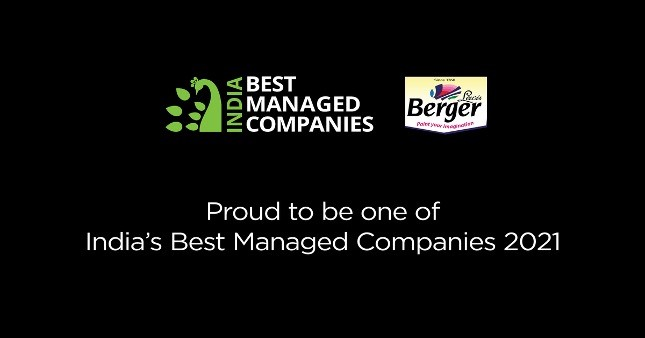Berger Paints India Named One of India's Best Managed Companies