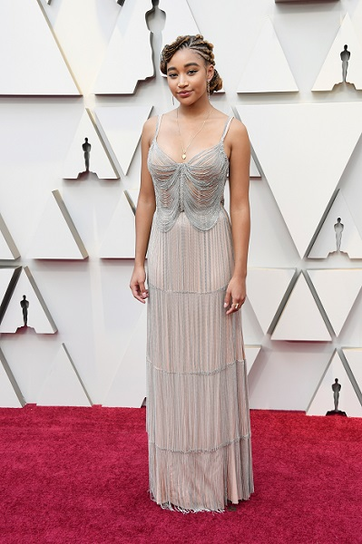 Actor and Academy Award Presenter, Amandla Stenberg Sparkled in Forevermark Diamonds by OM Jewellers at the 91st Academy Awards - newsonfloor.com
