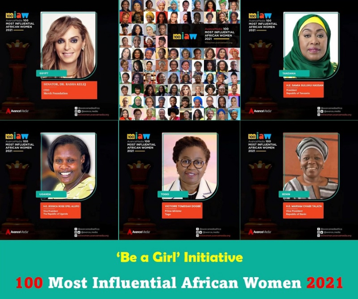 The President of Tanzania, Samia Suluhu Hassan and Merck Foundation CEO, Senator, Dr. Rasha Kelej Recognized as One of 100 Most Influential African Women 2021