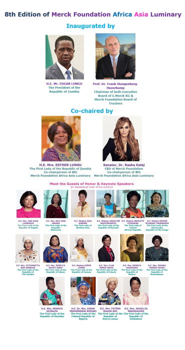Merck Foundation Africa Asia Luminary 2021, 8th Edition to Be Conducted on 27th to 29th April 2021, With 19 African First Ladies as Guests of Honor
