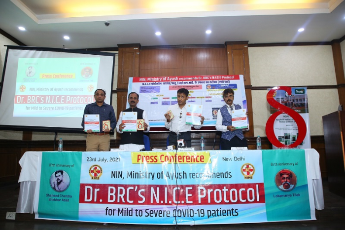 NIN, Ministry of AYUSH Recommends Dr Biswaroop Roy Chowdhurys N.I.C.E Protocol for Mild to Severe Covid-19 Patients