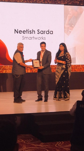 Smartworks' Founder - Neetish Sarda Named as Promising Entrepreneur of India by The Economic Times