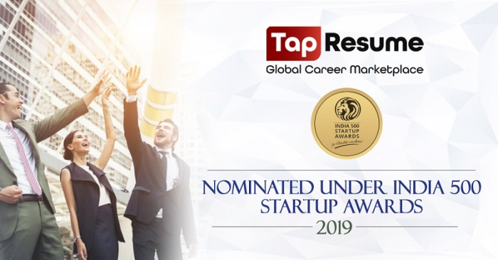 TapResume's Unique Machine-Learning Based Hiring Platform Nominated for India 500 Startup Awards 2019 - newsonfloor.com