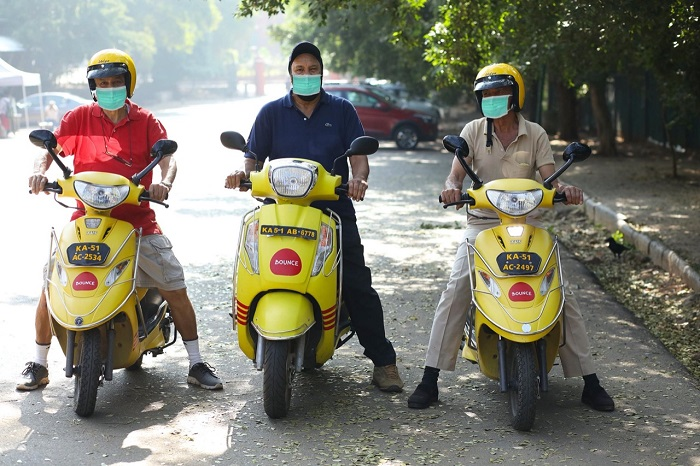 Bounce Resumes Dockless Scooter Sharing Service in Bangalore and Hyderabad