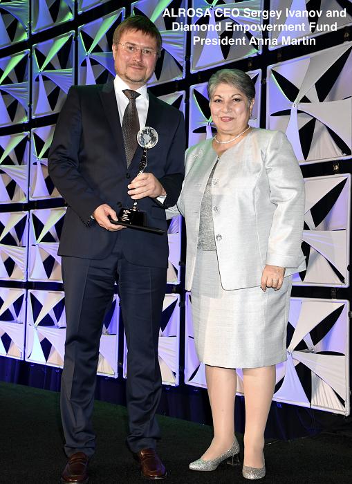 Diamond Empowerment Fund Presents 2019 'Good Award' to Leading Diamond Miner and Luxury Jeweler Group - newsonfloor.com