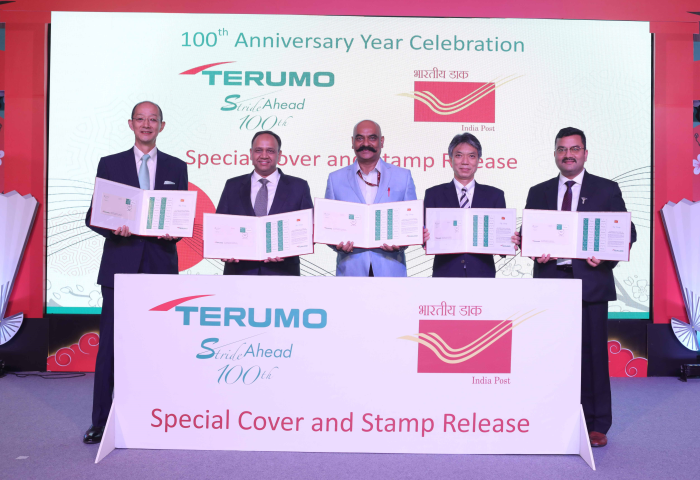 Terumo India Releases Special Postal Cover and My Stamp to Commemorate 100 Years of Terumo Corporation