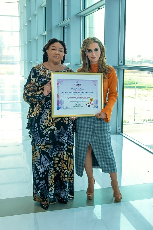 First Lady of DR Congo Meets Merck Foundation CEO to Mark Together the International Day of Elimination of Violence Against Women and Girls
