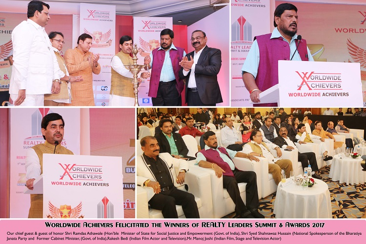 Worldwide Achievers Felicitated the Winners of Realty Leaders Summit & Awards 2017