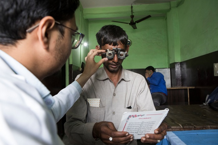 Truck driver Diwanchand from Gzb @ Static Eye Center of Sightsavers India