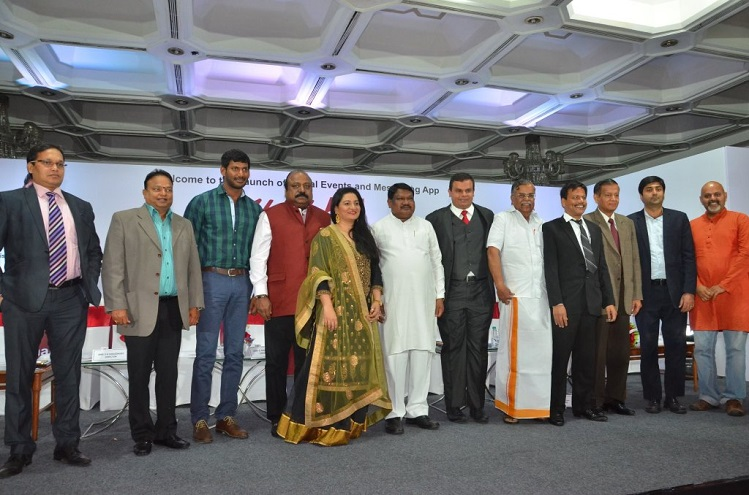 <b>Mr. SK Choudhary, Dr. Ishari K Ganesh, Chancellor Vels University, Actor Vishal, Mr. Xavier Britto, Chairman Howdy Ventures, Hon&#8217;ble Minister for Tribal Affairs Shri Jual Oram, La Ganesan MP, Mr. Sudhakar</b>&#8220;></p><script async src=