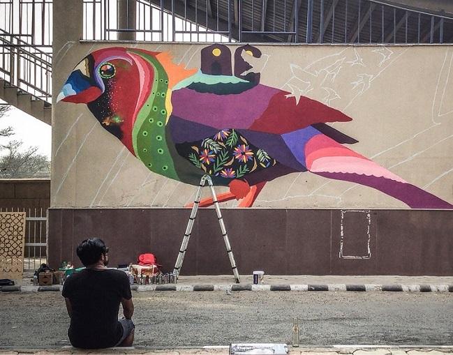 <b>St+art in Collaboration with Asian Paints Delhi</b>&#8220;></p><script async src=