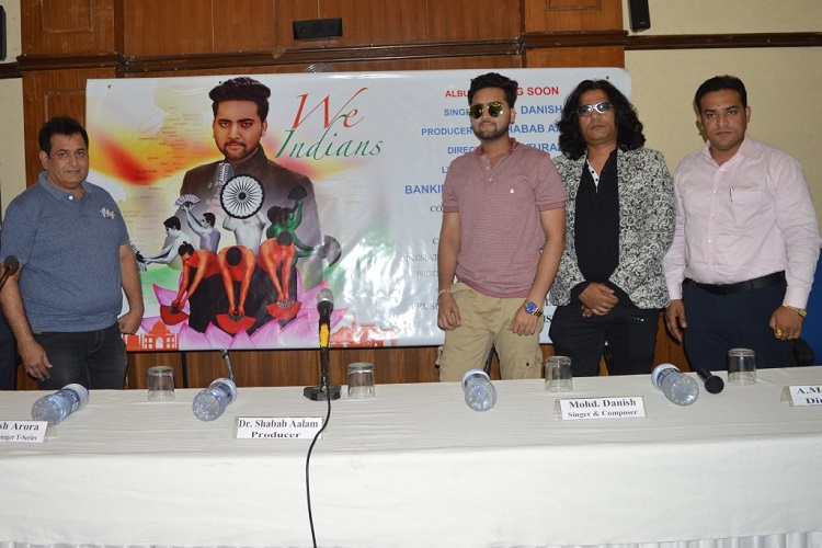 The Voice India Fame Mohd. Danish launch poster of his first album - We Indians