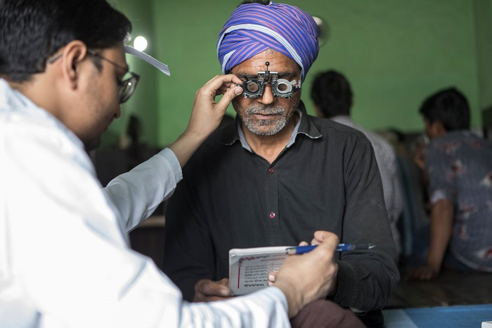 Truck driver Rajinder Singh @ Static Eye Center of Sightsavers India