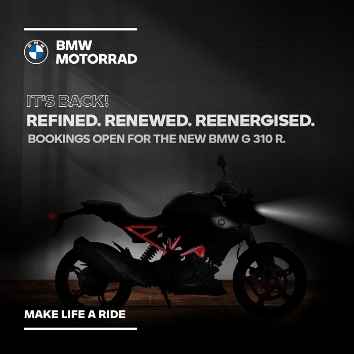 Pre-launch bookings start for the new BMW Motorrad G 310 R and the BMW G 310 GS