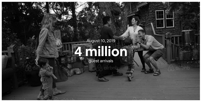 On August 10, more than 4 million people across the globe spent the night in an Airbnb listing