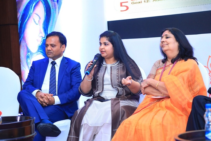 Amar & Payal Tulsiyan addressing the audience during the 'Adolescent Girls' Health' panel