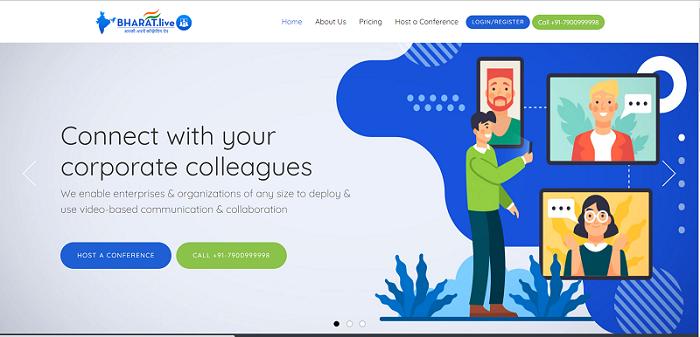 Bharat.live website interface
