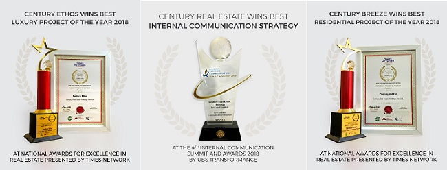 Best Internal Communications Campaign, Century Ethos wins Best Luxury and Century Breeze wins Residential project of the year