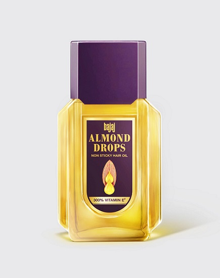 Bajaj Almond Drops Hair Oil  restages packaging after 25 years