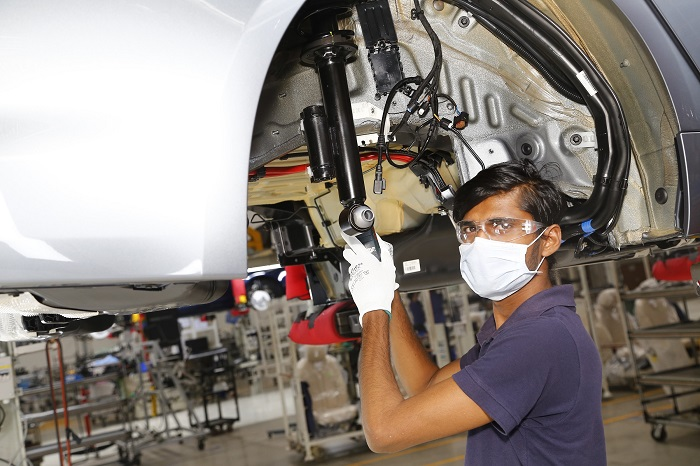 BMW Group India resumes local production at Plant Chennai