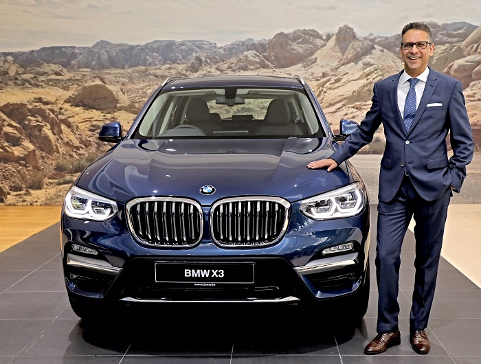 Mr. Vikram Pawah, Chairman, BMW Group India with the all-new BMW X3