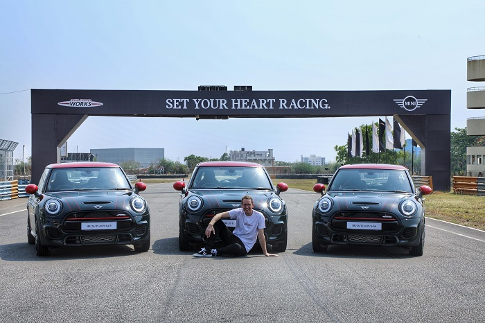 Dr. Hans-Christian Baertels, President (act.), BMW Group India with the MINI John Cooper Works Hatch