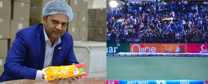 (Left) Mr. Amar Tulsiyan, Founder, Shudh Plus Hygiene Products |(Right) Live from India vs West Indies T20 Series