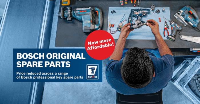 Bosch Original Spare Parts now more affordable