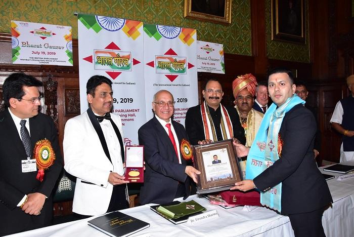 Bharat Gaurav Award to Viral Desai
