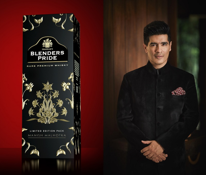 Blenders Pride Limited Edition Pack in association with Manish Malhotra