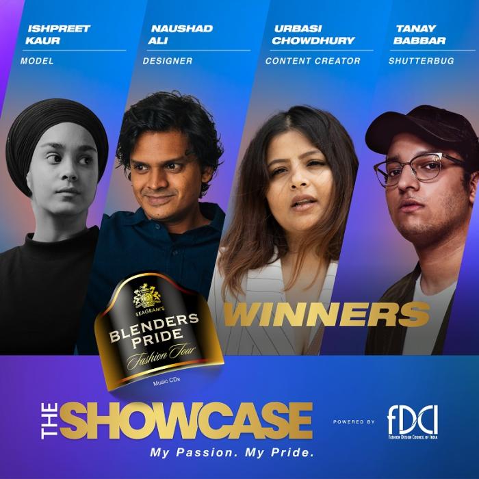 Winners of Blenders Pride Fashion Tour 'The Showcase'