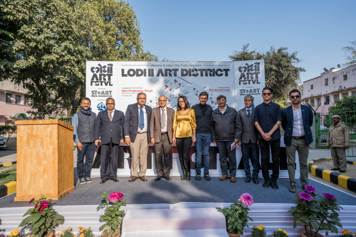 Team CPWD with St+art Foundation team at the Inauguration of Lodhi Art District