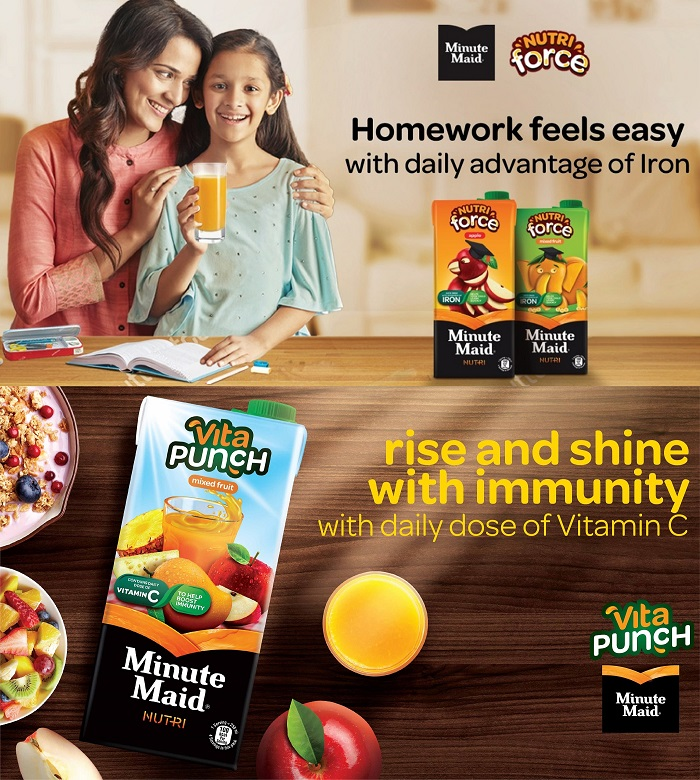 Coca-Cola India Brings Delightful Fruit Nutrition with two new products: Minute Maid Nutriforce and Minute Maid Vita Punch, made with fruits grown by Indian farmers