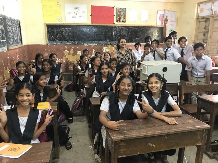 Children from a municipal school in Maharashtra enjoying a classroom session under the YAY! Vidya programme