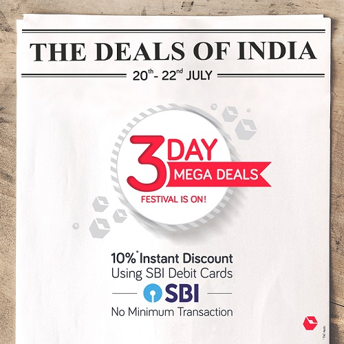 Snapdeal Offers up to 80 percent Discount at Mega Deals Sale