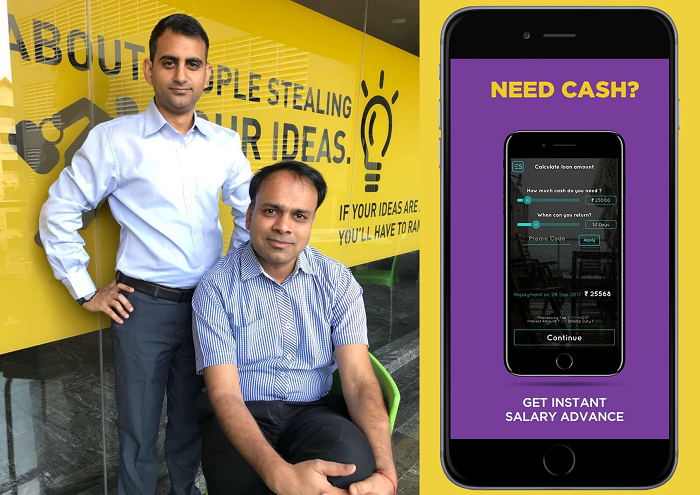 Akshay Mehrotra and Ashish Goyal, the Co-founders of EarlySalary