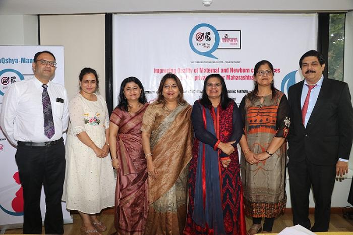 L to R: Dr. Ameya Purandare, Assistant Administrator, FOGSI-National Program Management Unit (NPMU); Dr. Samita Bhardwaj, National Program Manager, FOGSI-NPMU; Pompy Sridhar, India Director, MSD for Mothers; Dr. Nandita Palshetkar, President, FOGSI; Dr. Hema Divakar, National Convener, FOGSI-NPMU; Jasmine Kunder, FOGSI-NPMU; Dr. Hrishikesh Pai, Chief Administrator, FOGSI-NPMU