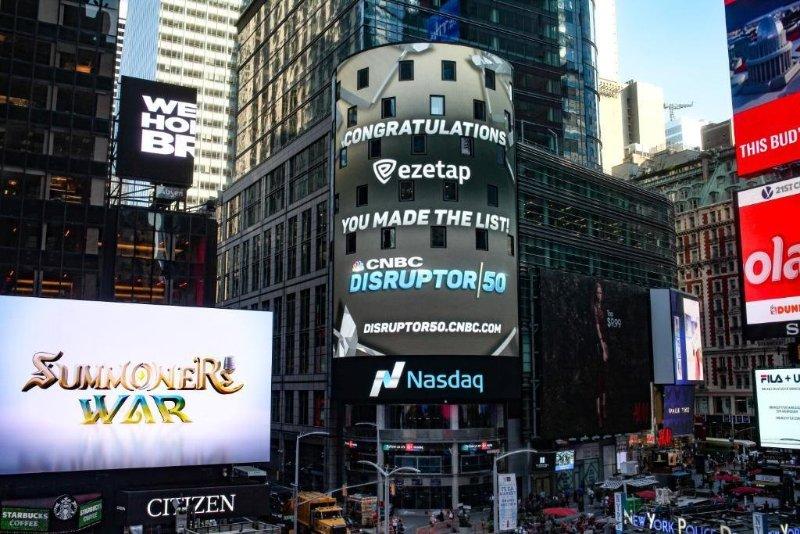 Ezetap in CNBC Disruptor 50 2017
