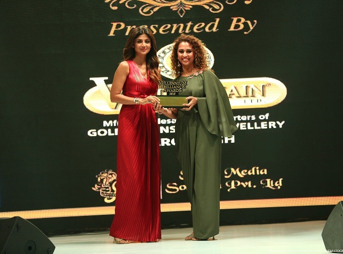 Mrs. Shilpa Shetty Kundra at Millennium Brilliance Awards
