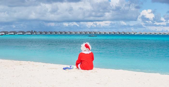 Santa Visit at Finolhu
