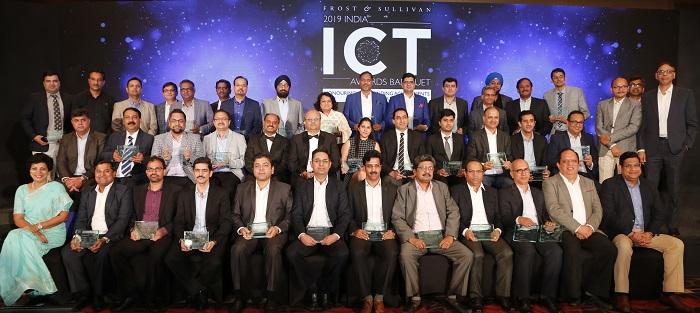 Award Recipients at 2019 Frost & Sullivan India ICT Awards