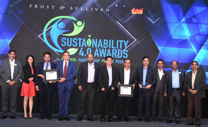 Awards Recipients at Frost & Sullivan and TERI's 2019 Sustainability 4.0 Awards