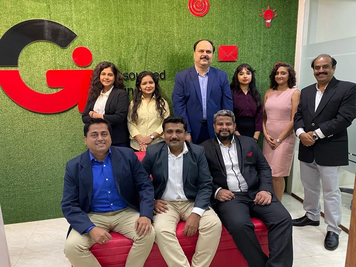 GI Outsourcing Team at their Mumbai Office
