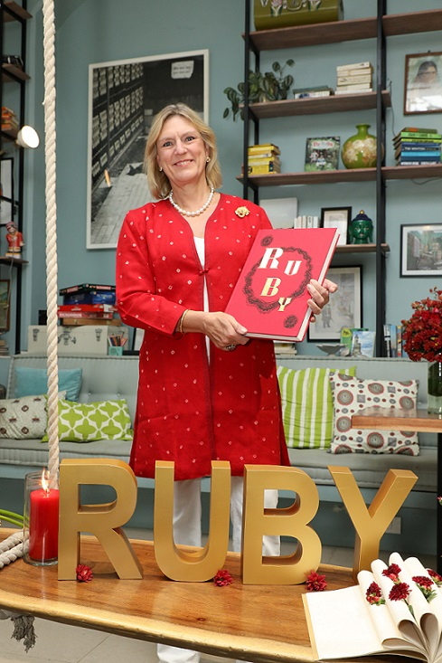 Joanna Hardy at the Ruby Book Launch