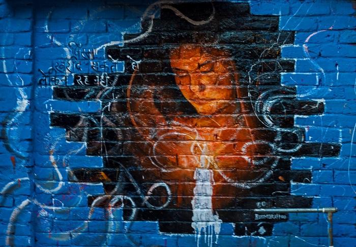Graffiti on women safety