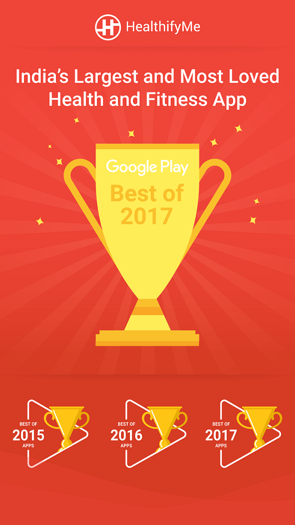 Play Store Best App of 2017, HealthifyMe