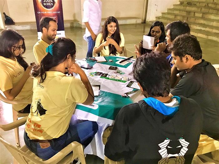 Players Enjoying Poker Night at IIT Bombay Campus