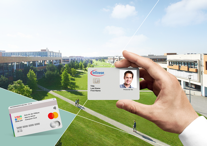Infineon's new employee ID card at its headquarters are combining highly secured office building access with a flexible, contactless Mastercard payment function