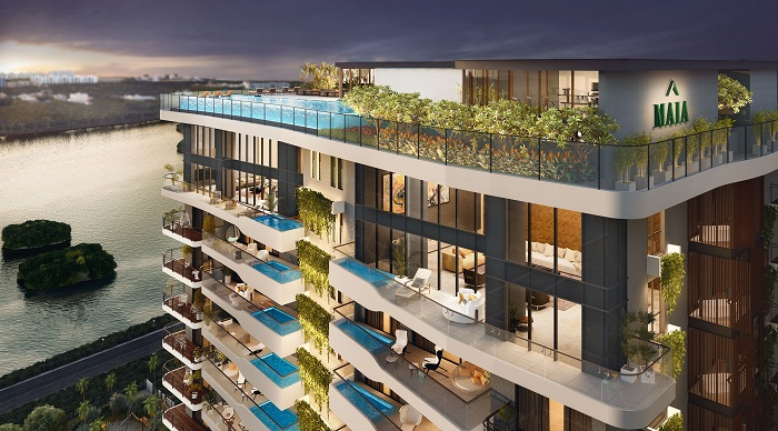 MAIA-Estates' Pelican Grove-Project - Aerial-View of the Penthouse