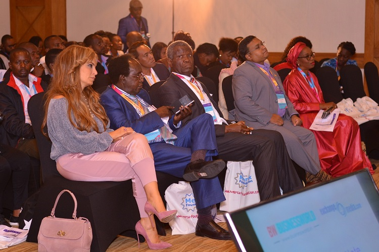 (L-R) Dr. Rasha Kelej, CEO, Merck Foundation and President Merck more Than a Mother; Prof. Koigi Kamau, Chairman Kenya Fertility Society; Prof. Oladapo Ashiru, President of Africa Fertility Society, Nigeria; Dr. Tareq Muhammad Salahuddin, Editor of Health Section, The Daily Star, Bangladesh; Ms. Modele Sarafa- Yusuf, Senior Freelance Journalist & Media Personality, Nigeria